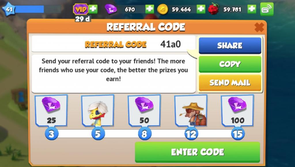 Dragon mania app referral marketing