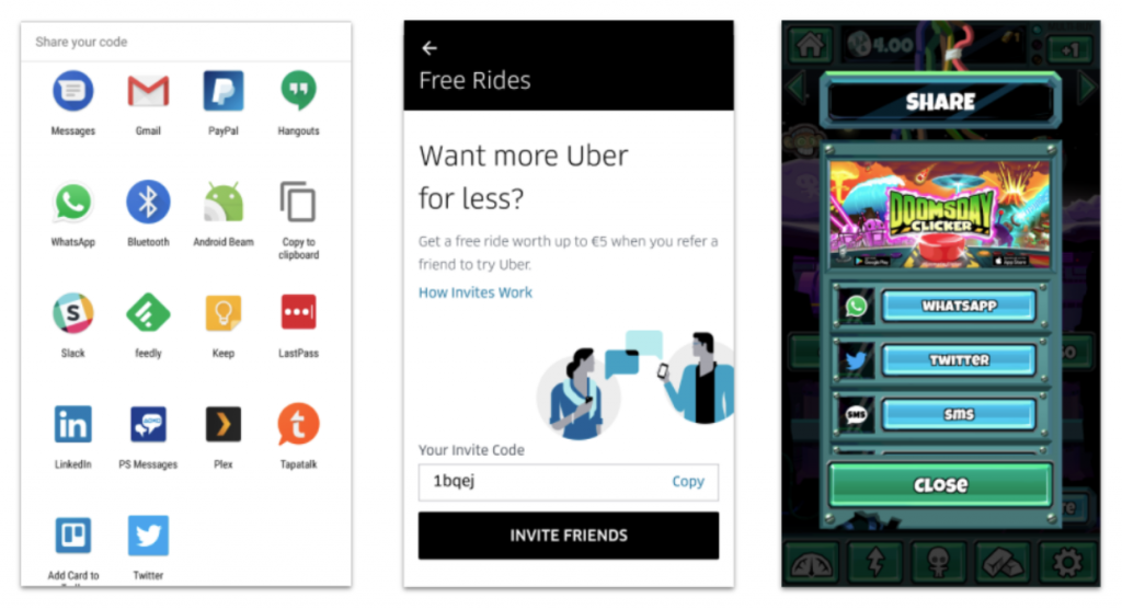 app sharing mechanisms