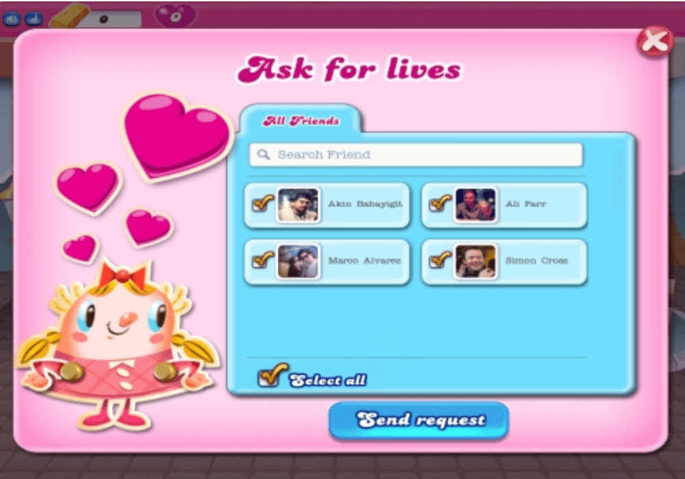 candy crush app referral marketing
