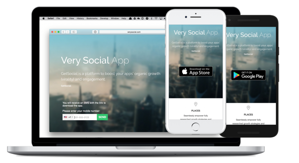getsocial landing page