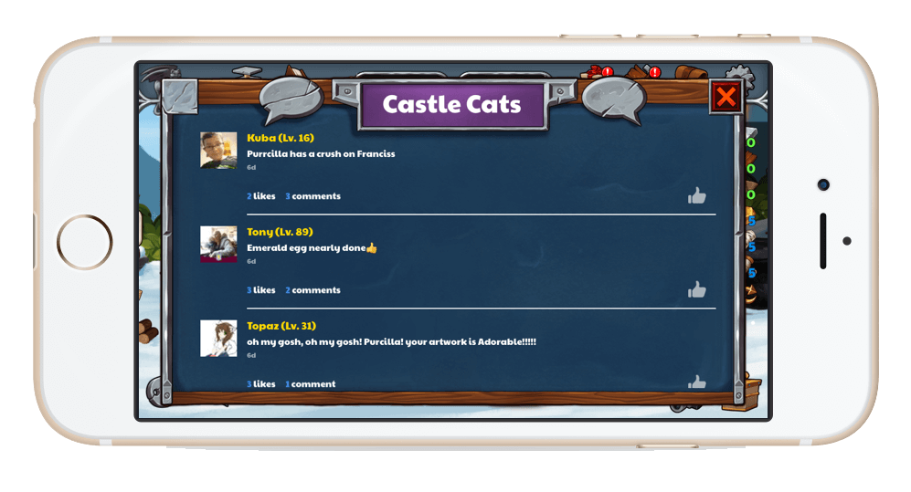 CastleCats activityfeed