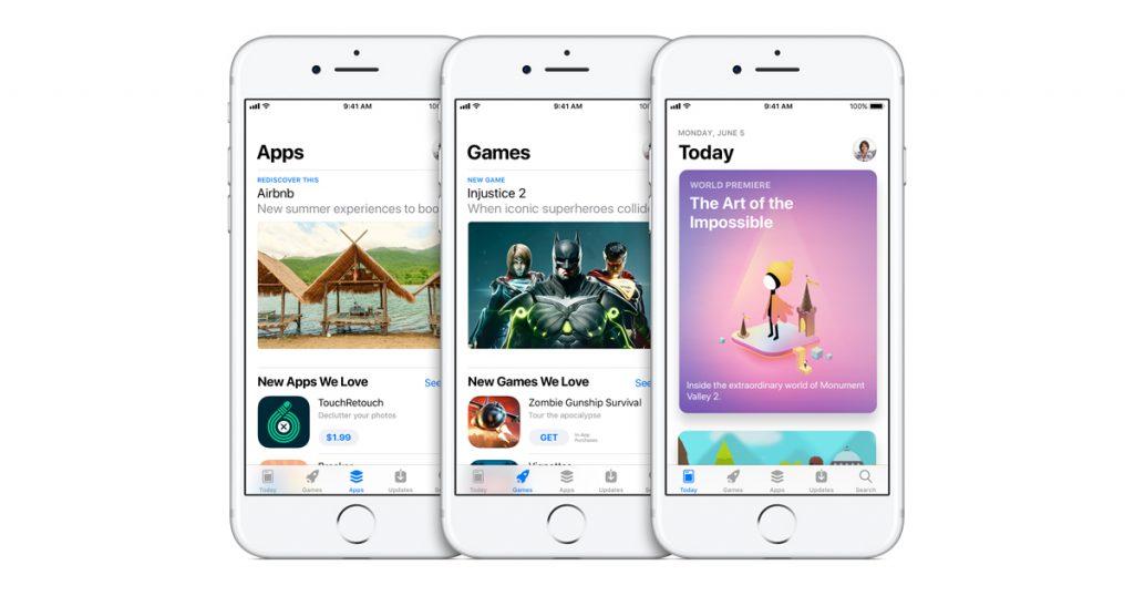 new app store design